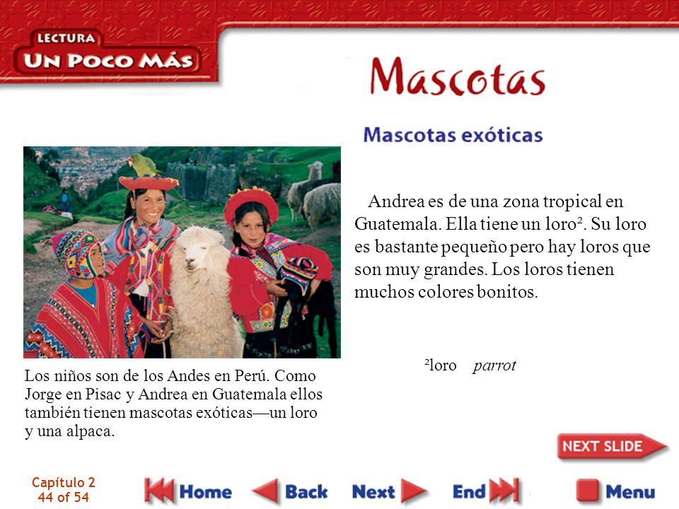 Capítulo 2 44 of 54 Andrea es de una zona tropical en Guatemala.