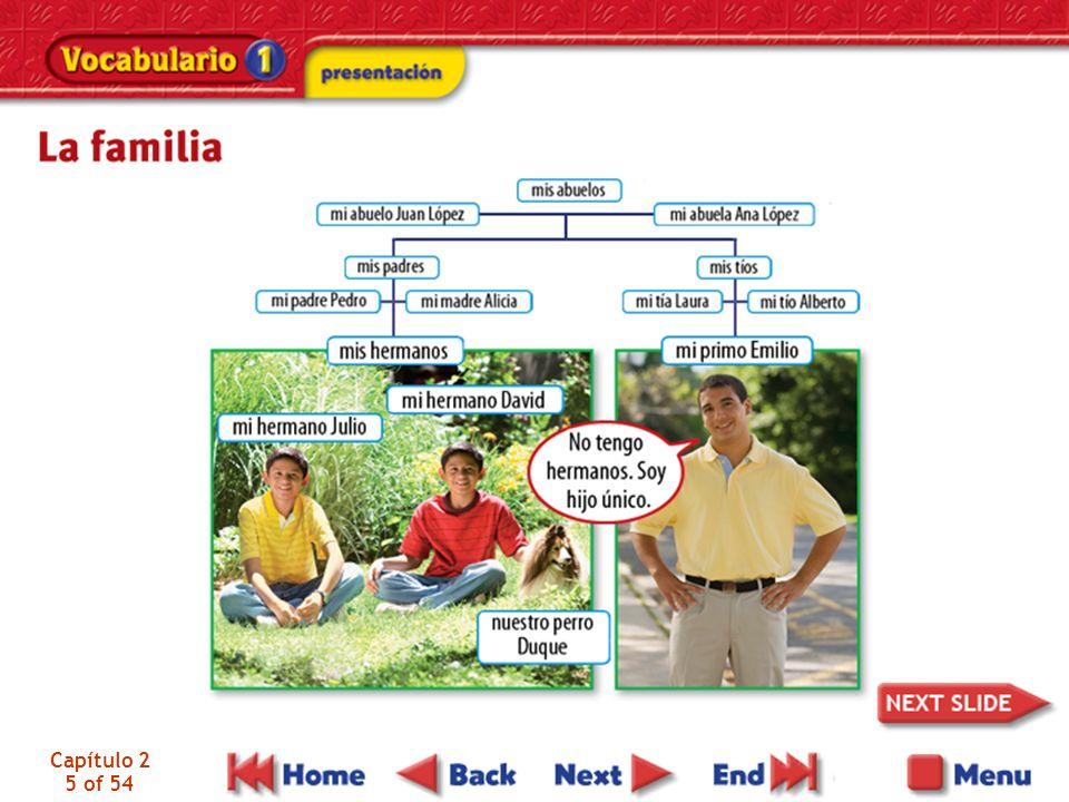 Capítulo 2 36 of 54 Una vista panorámica de Quito, Ecuador La familia Morales no es muy grande y no es muy pequeña.