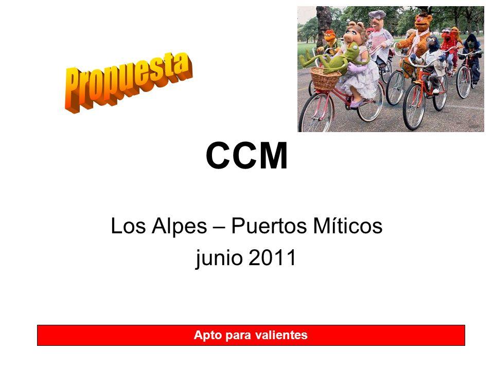 CCM Los Alpes – Puertos Míticos junio 2011 Apto para valientes
