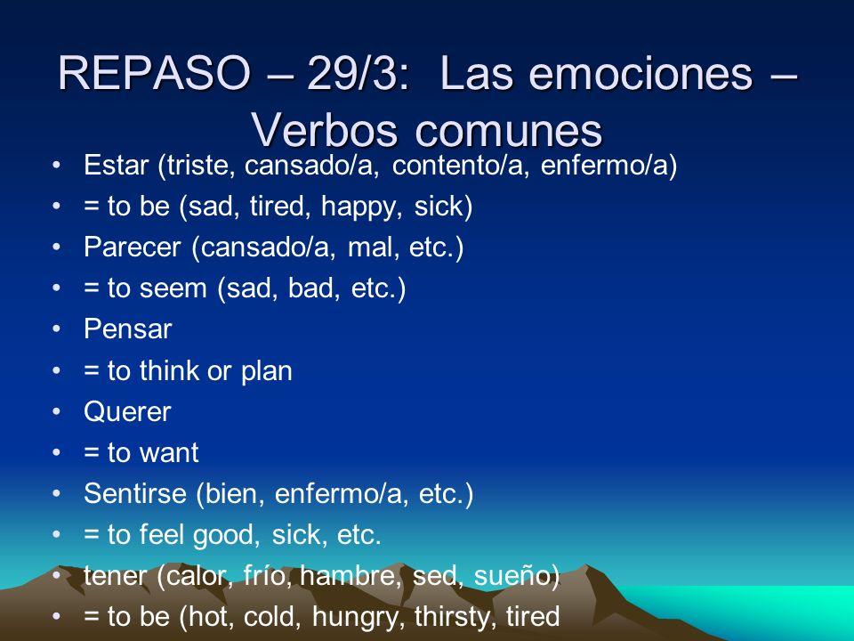 Actividad después de la prueba: 1) Traduzcan Uds.