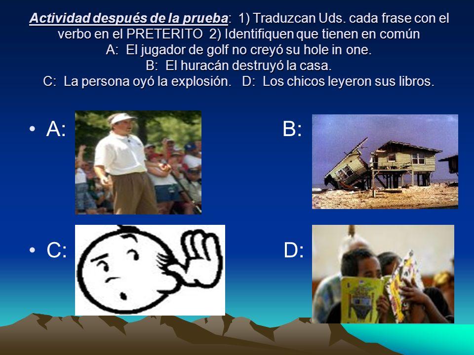 A: El jugador no creyó su hole in one B: El huracán destruyó la casa.