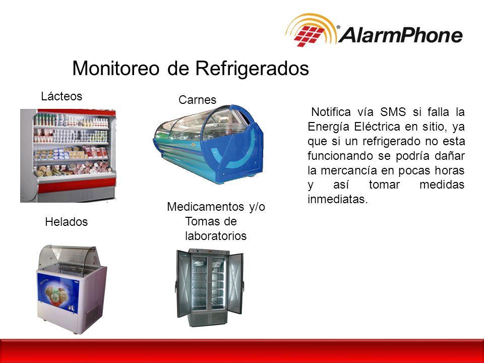 Monitoreo de Refrigerados Notifica vía SMS si falla la Energía Eléctrica en sitio, ya que si un refrigerado no esta funcionando se podría dañar la mer