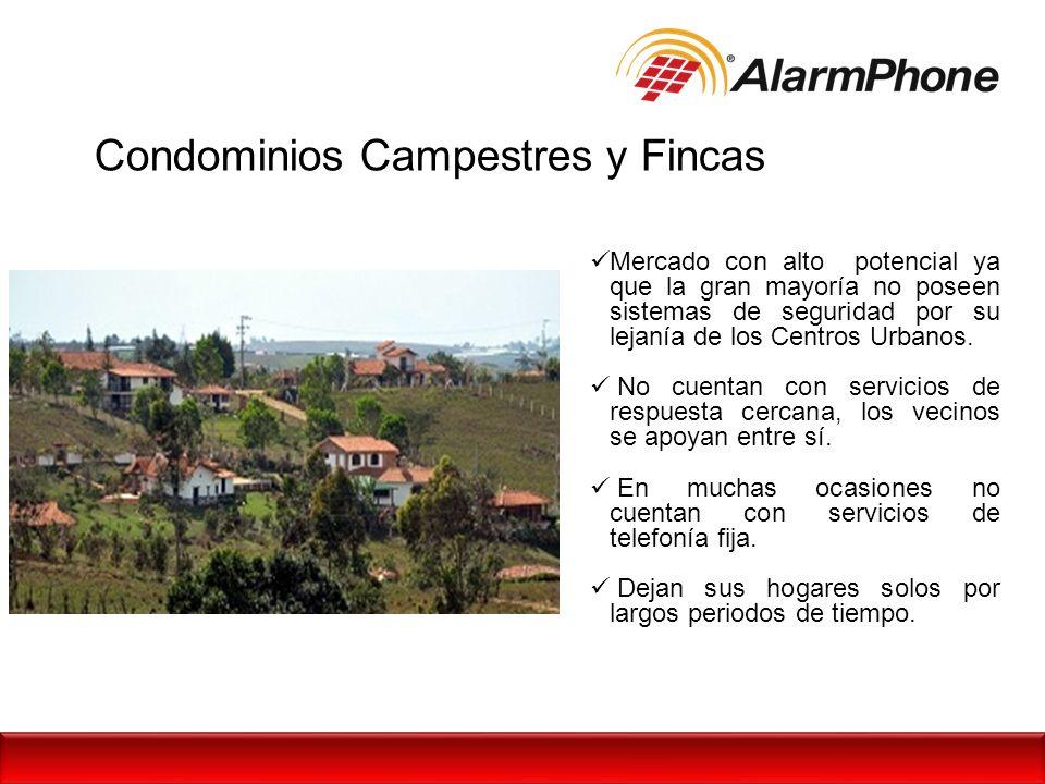 Condominios Campestres y Fincas Mercado con alto potencial ya que la gran mayoría no poseen sistemas de seguridad por su lejanía de los Centros Urbano