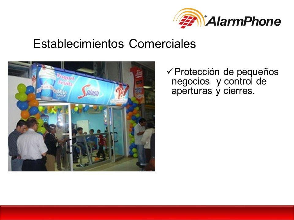 Establecimientos Comerciales Protección de pequeños negocios y control de aperturas y cierres.
