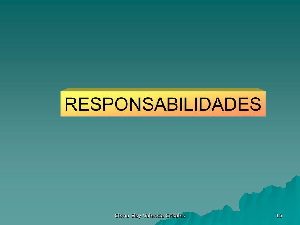 Gloria Elsy Valencia Grisales 15 RESPONSABILIDADES