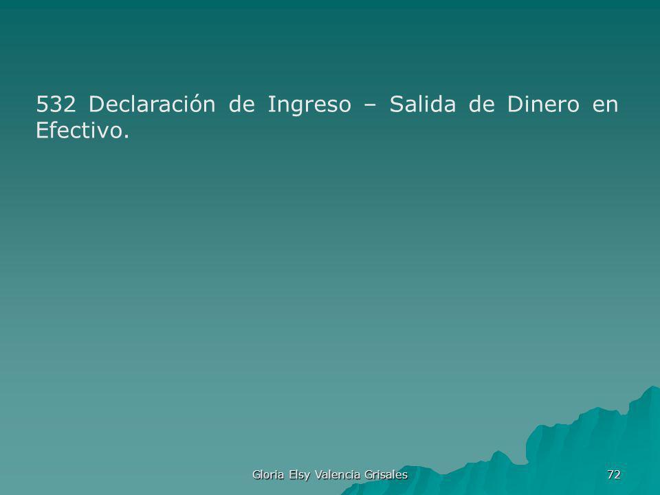 Gloria Elsy Valencia Grisales 72 532 Declaración de Ingreso – Salida de Dinero en Efectivo.