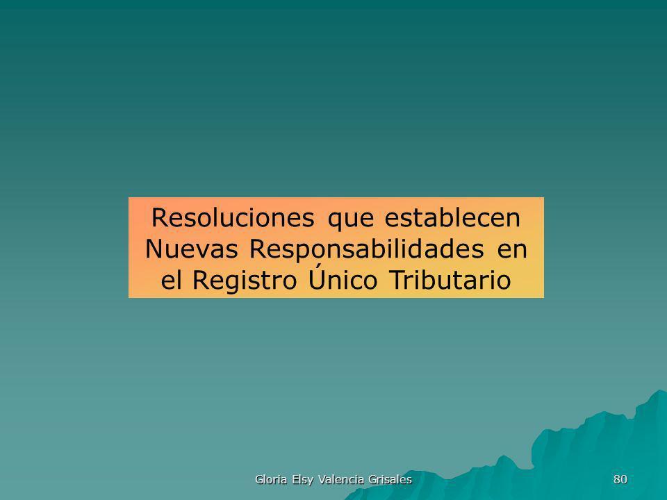 Gloria Elsy Valencia Grisales 80 Resoluciones que establecen Nuevas Responsabilidades en el Registro Único Tributario