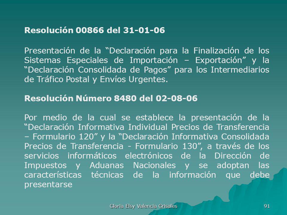 Gloria Elsy Valencia Grisales 91 Presentación de la Declaración para la Finalización de los Sistemas Especiales de Importación – Exportación y la Decl