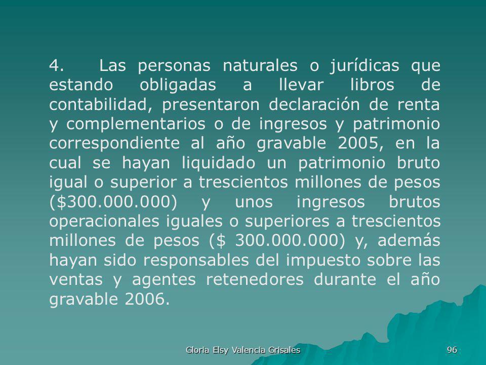 Gloria Elsy Valencia Grisales 96 4. Las personas naturales o jurídicas que estando obligadas a llevar libros de contabilidad, presentaron declaración