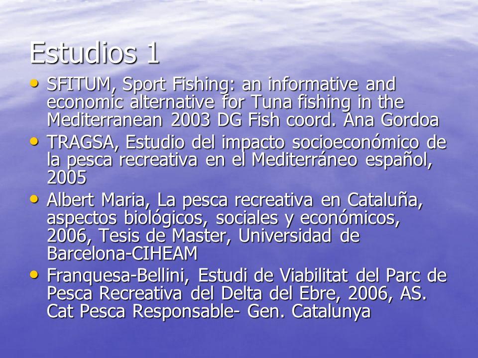 Estudios 1 SFITUM, Sport Fishing: an informative and economic alternative for Tuna fishing in the Mediterranean 2003 DG Fish coord.