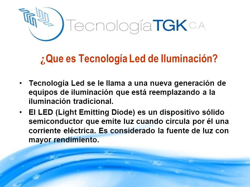 ¿ Que es Tecnología Led de Iluminación? Tecnología Led se le llama a una nueva generación de equipos de iluminación que está reemplazando a la ilumina