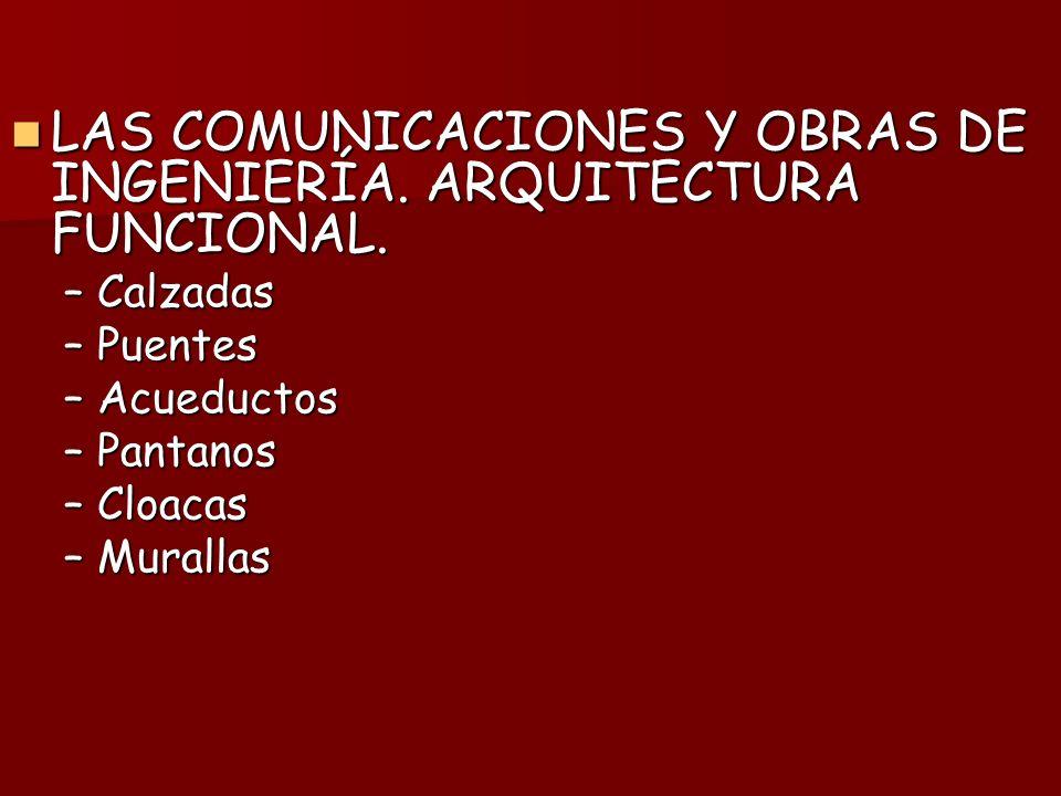LAS COMUNICACIONES Y OBRAS DE INGENIERÍA.ARQUITECTURA FUNCIONAL.
