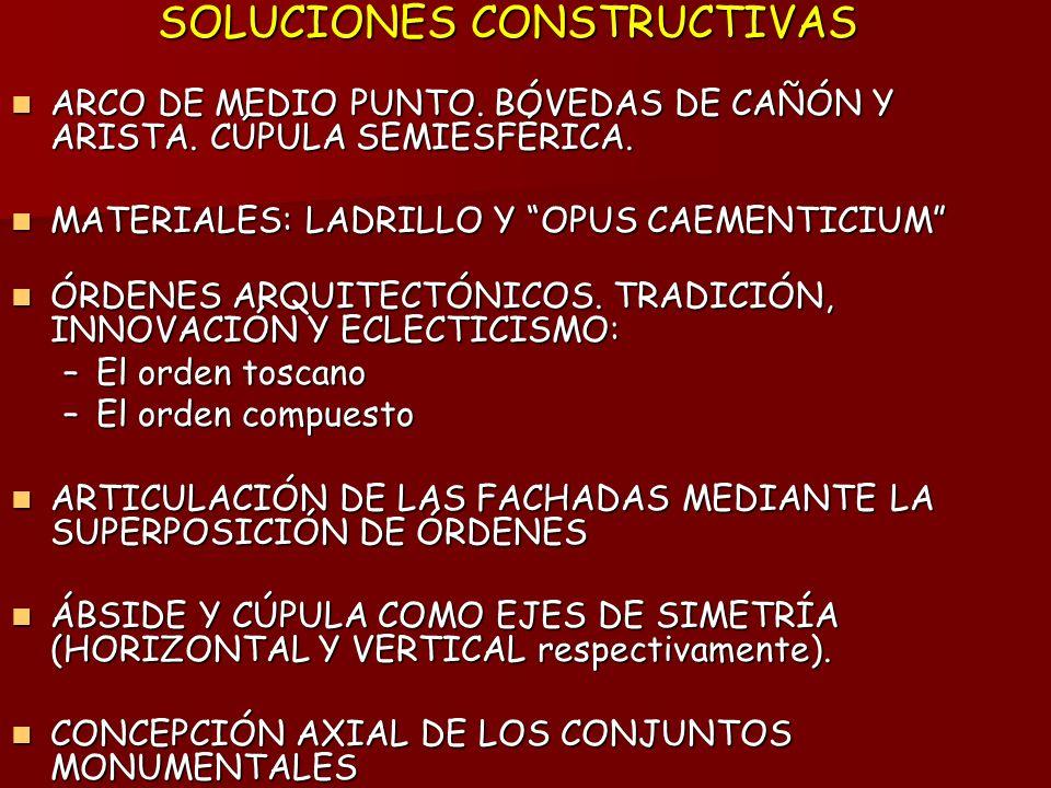 SOLUCIONES CONSTRUCTIVAS ARCO DE MEDIO PUNTO.BÓVEDAS DE CAÑÓN Y ARISTA.
