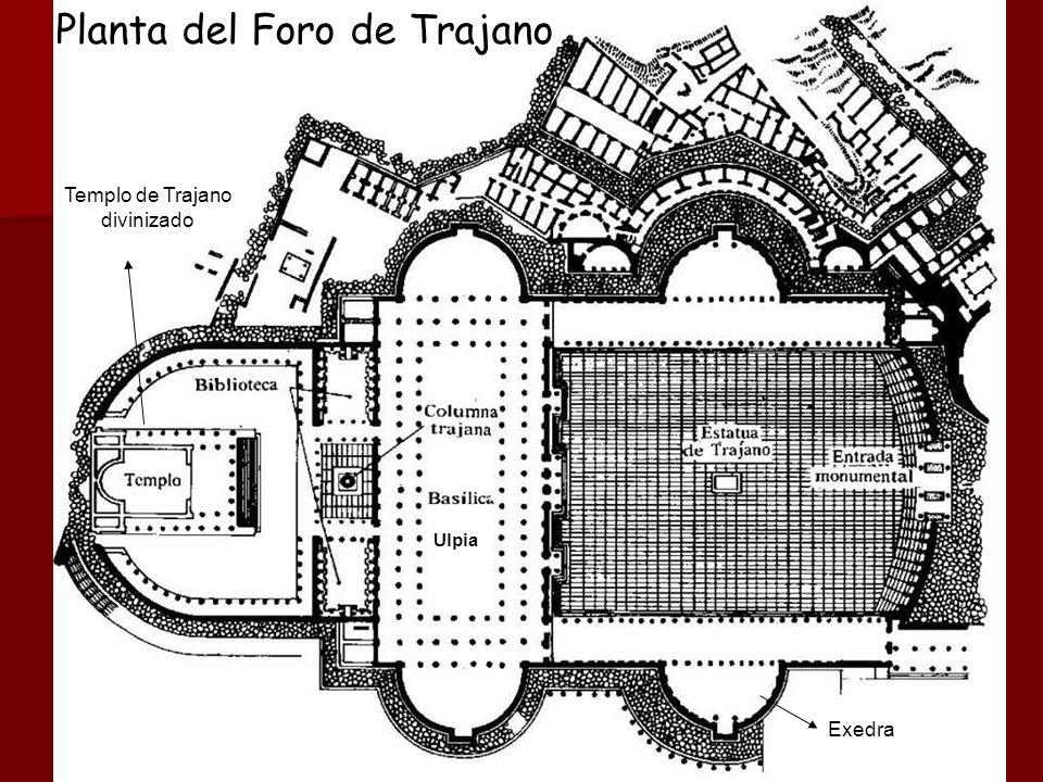 Planta del Foro de Trajano Ulpia Templo de Trajano divinizado Exedra