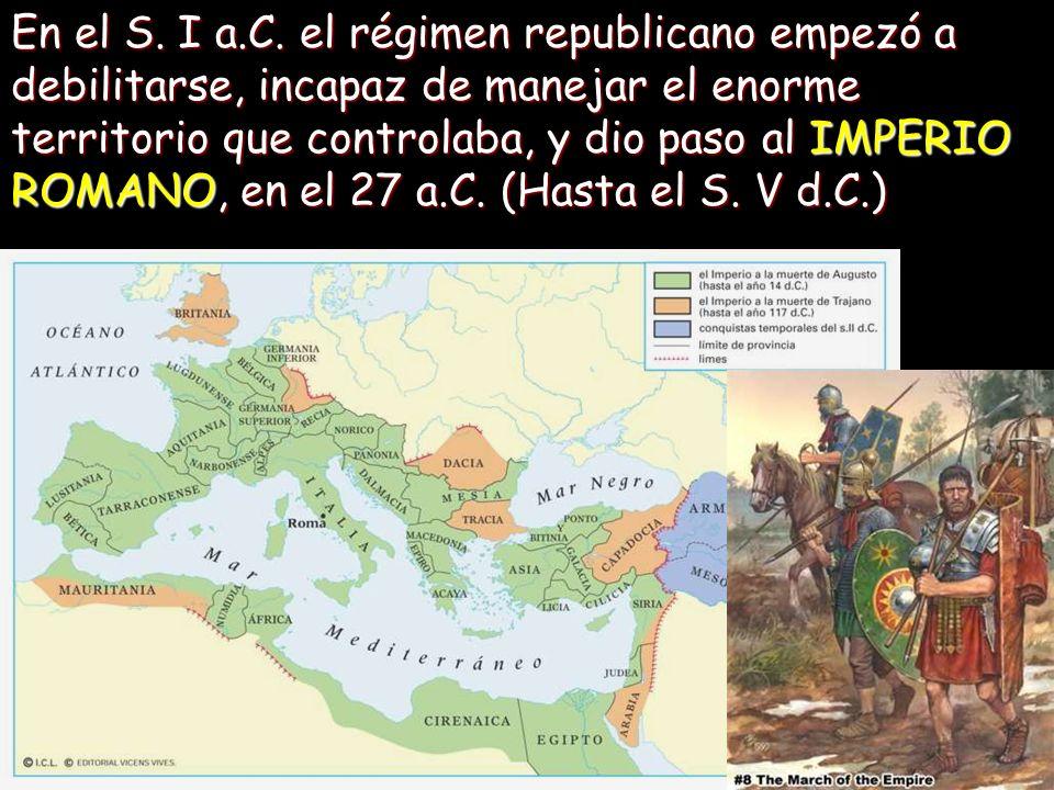 Augusto (42 a.C.-2 d.C.) inauguraba la brillante serie de foros imperiales, presidido por el templo de Marte vengador, y con dos exedras (semicirculos abiertos) que ampliaban los laterales largos de la plaza.
