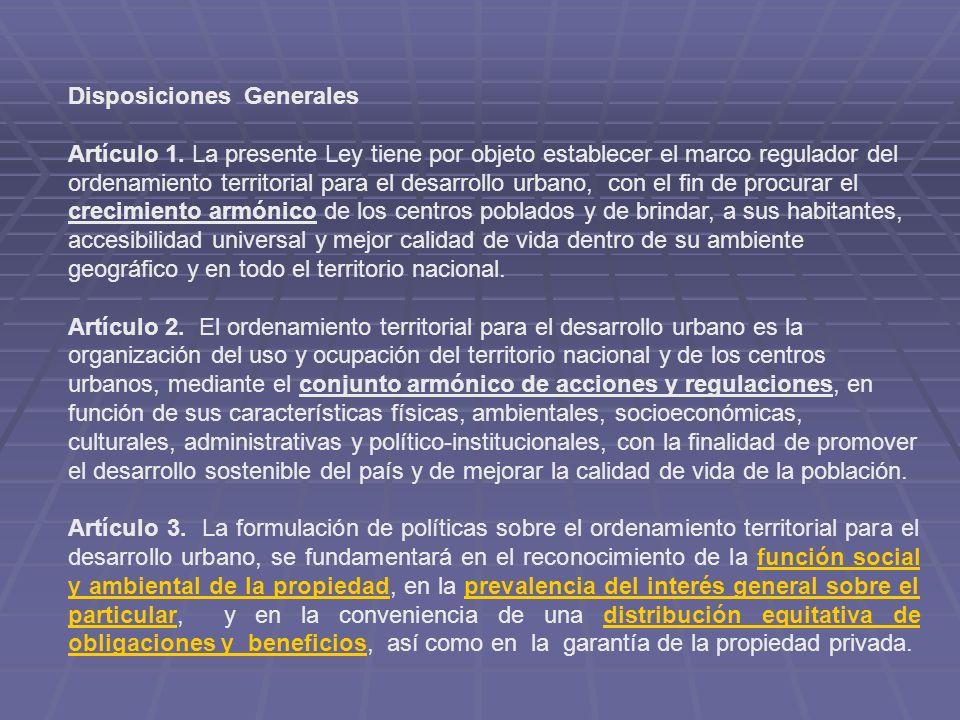 Disposiciones Generales Artículo 1.