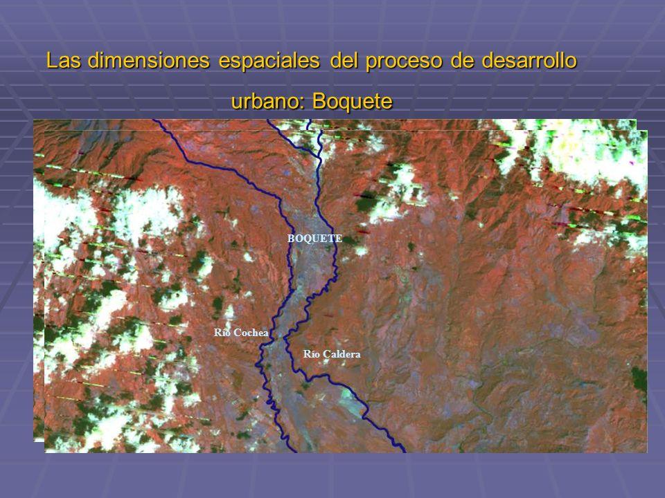 Las dimensiones espaciales del proceso de desarrollo urbano: Boquete Río Caldera Río Cochea BOQUETE Río Caldera Río Cochea BOQUETE