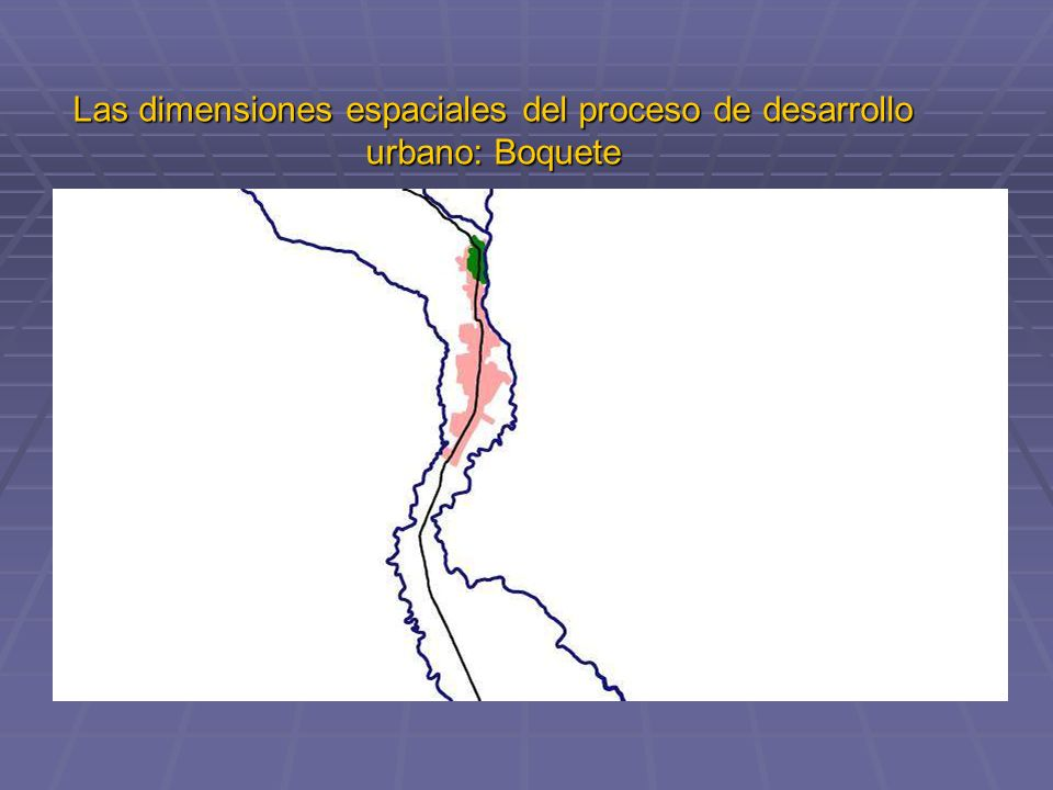 Las dimensiones espaciales del proceso de desarrollo urbano: Boquete