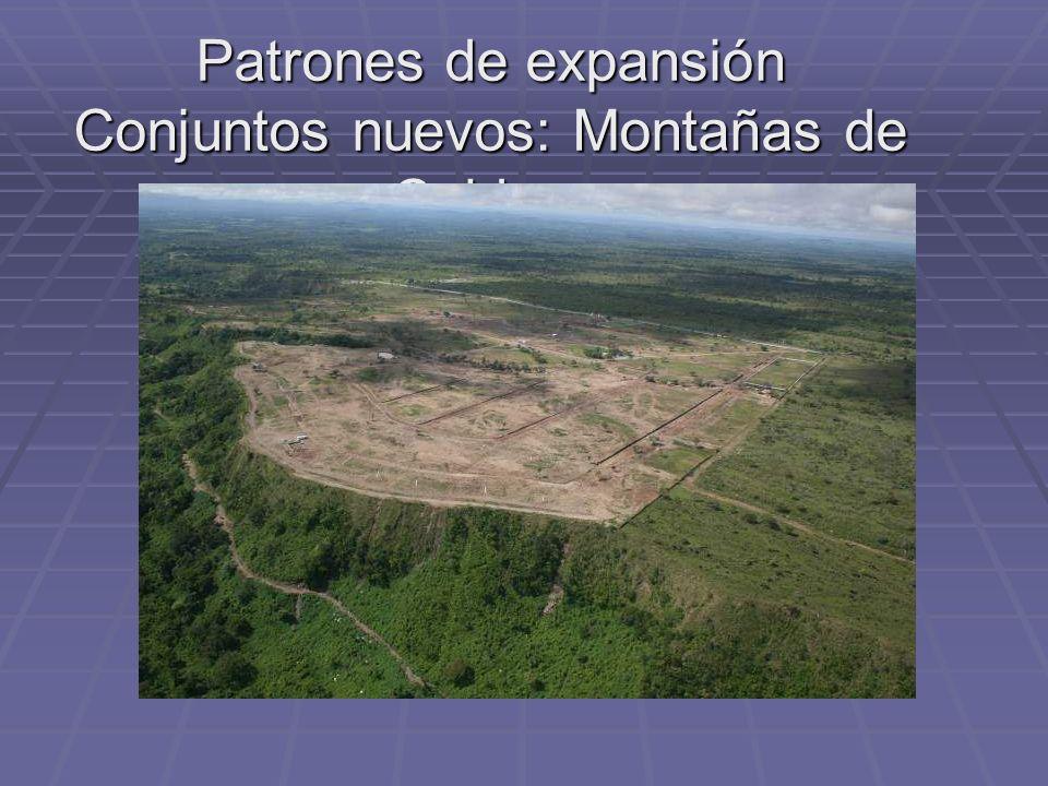 Patrones de expansión Conjuntos nuevos: Montañas de Caldera