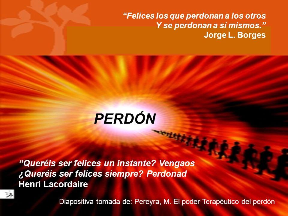 Presentación realizada por: Mtro. Fco. Javier Robles Ojeda Felices los que perdonan a los otros Y se perdonan a sí mismos. Jorge L. Borges Queréis ser
