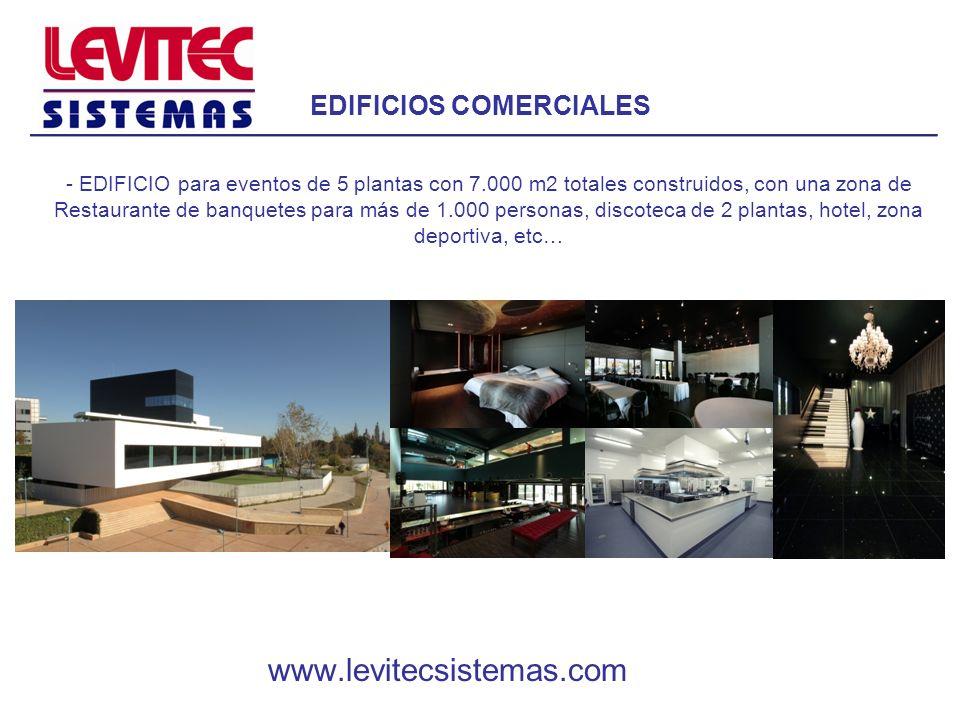 EDIFICIOS COMERCIALES - EDIFICIO para eventos de 5 plantas con 7.000 m2 totales construidos, con una zona de Restaurante de banquetes para más de 1.00