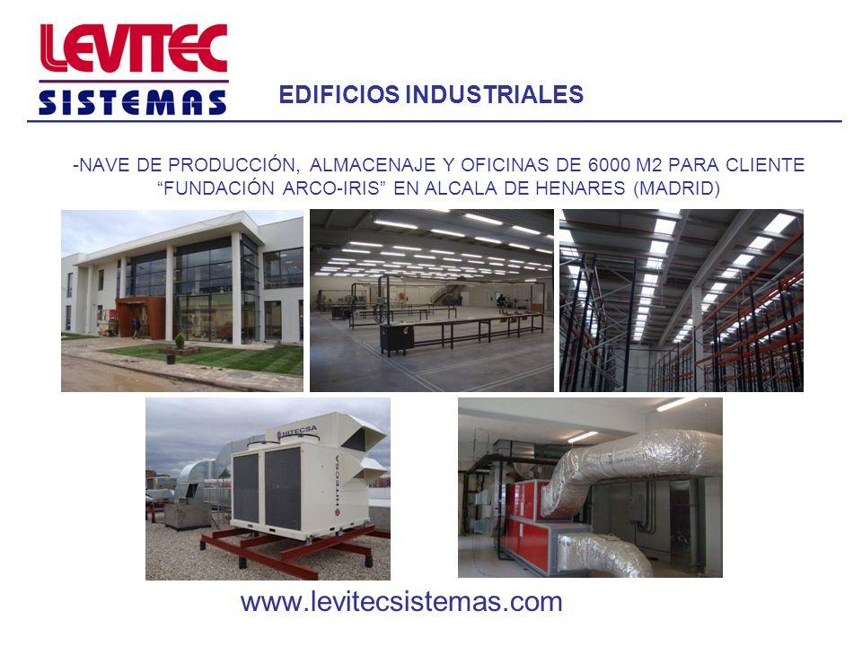 EDIFICIOS INDUSTRIALES -NAVE DE PRODUCCIÓN, ALMACENAJE Y OFICINAS DE 6000 M2 PARA CLIENTE FUNDACIÓN ARCO-IRIS EN ALCALA DE HENARES (MADRID) www.levite
