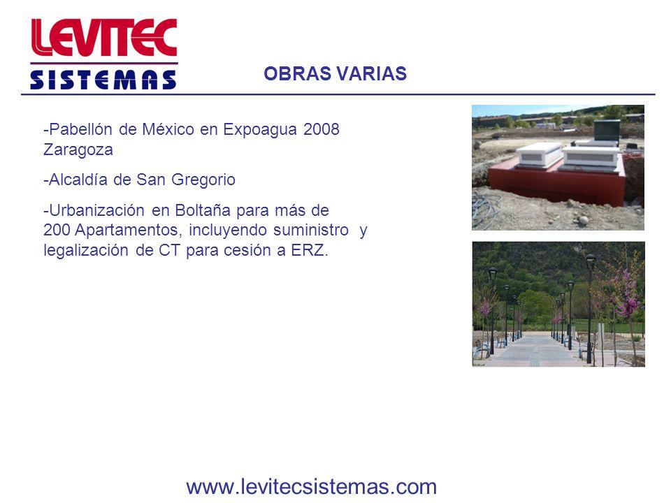 OBRAS VARIAS -Pabellón de México en Expoagua 2008 Zaragoza -Alcaldía de San Gregorio -Urbanización en Boltaña para más de 200 Apartamentos, incluyendo