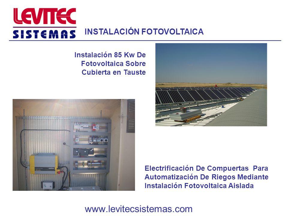 Electrificación De Compuertas Para Automatización De Riegos Mediante Instalación Fotovoltaica Aislada Instalación 85 Kw De Fotovoltaica Sobre Cubierta