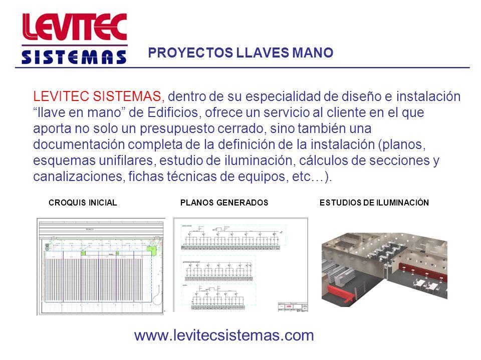 PROYECTOS LLAVES MANO LEVITEC SISTEMAS, dentro de su especialidad de diseño e instalación llave en mano de Edificios, ofrece un servicio al cliente en