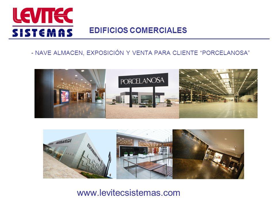 EDIFICIOS COMERCIALES - TIENDA EXPOSICIÓN Y VENTA AL POR MAYOR DE 5000 M2 PARA CLIENTE MARKETCHES EN ZARAGOZA www.levitecsistemas.com