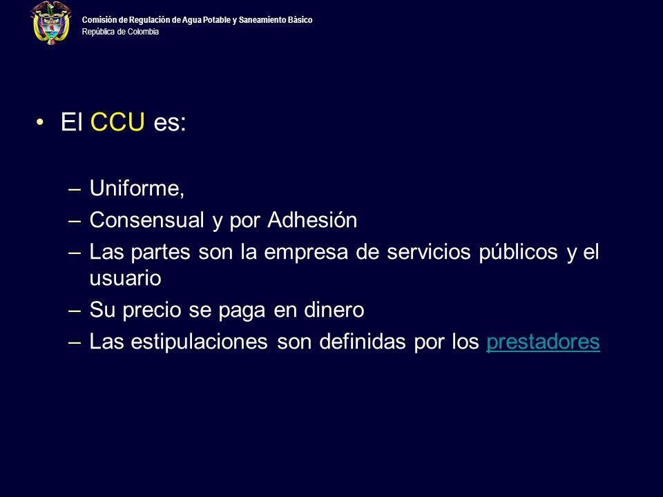 Comisión de Regulación de Agua Potable y Saneamiento Básico República de Colombia Según el art.