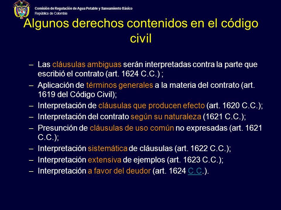 Comisión de Regulación de Agua Potable y Saneamiento Básico República de Colombia Dónde se encuentran los derechos de propietarios de unidades privadas.