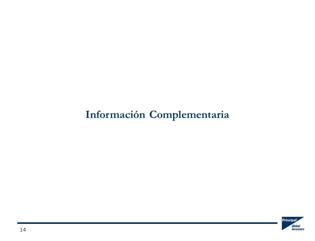14 Información Complementaria