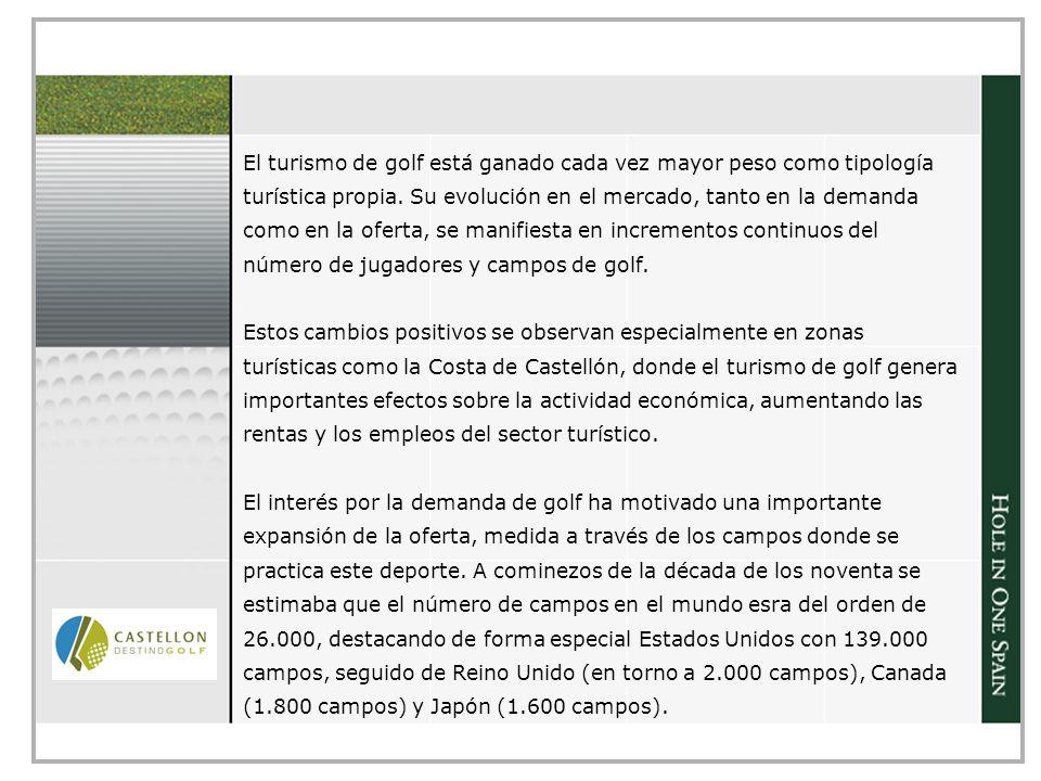 El turismo de golf está ganado cada vez mayor peso como tipología turística propia.