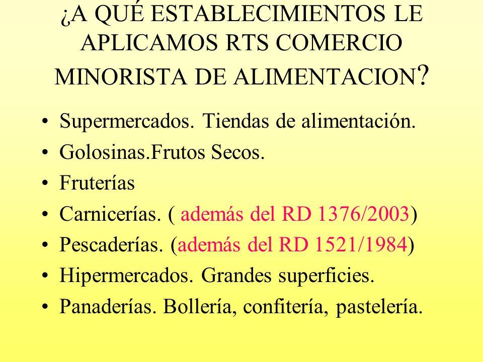 PARA COMERCIO MINORISTA DE ALIMENTACIÓN REGLAMENTO (CE) Nº 852/2004 DEL PARLAMENTO EUROPEO Y DEL CONSEJO RELATIVO A LA HIGIENE DE LOS PRODUCTOS ALIMEN
