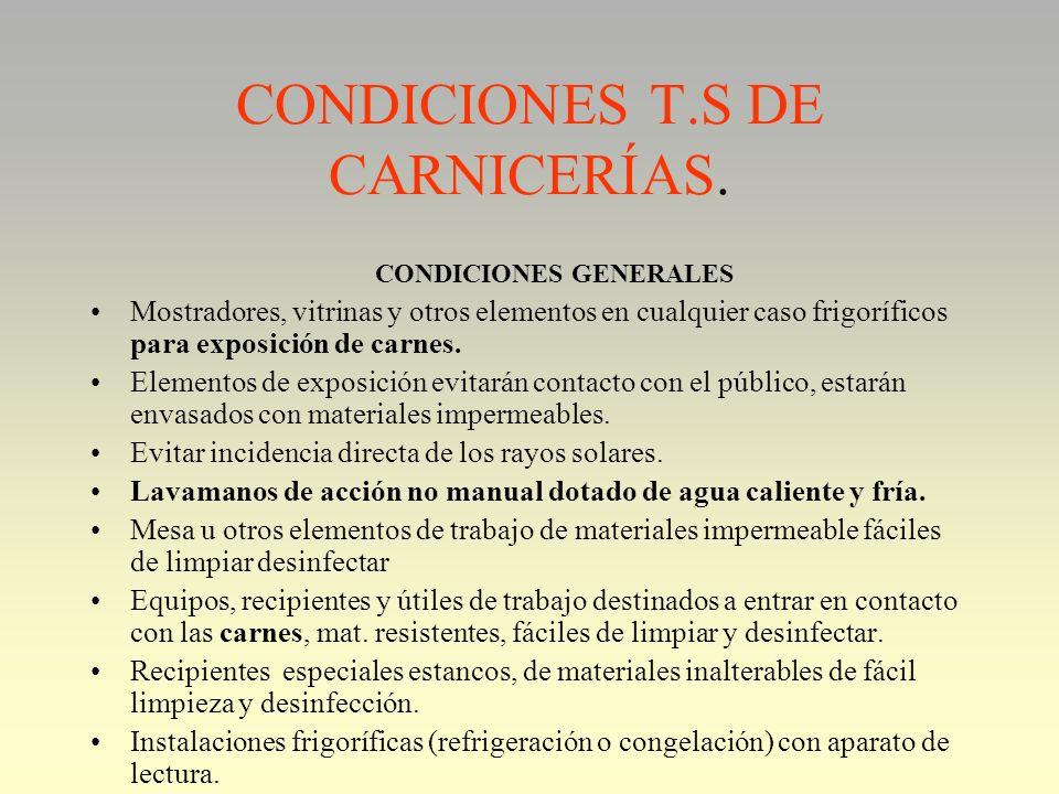 CARNICERIAS 1376/2003: DIFERENCIAR. 1. SOLO PUNTO DE VENTA. Ejemplos. –Hipermercados, supermercados. Solo cortan, filetean, expenden.... Venden carne.