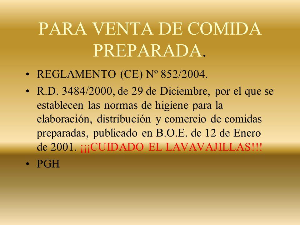 PESCADERÍAS RD 1521/84 PRACTICAMENTE DEROGADO EN SU TOTALIDAD. QUEDA EN VIGOR : MOSTRADORES INCLINADOS PARA EVACUACIÓN DEL AGUA DE FUSIÓN DEL HIELO.