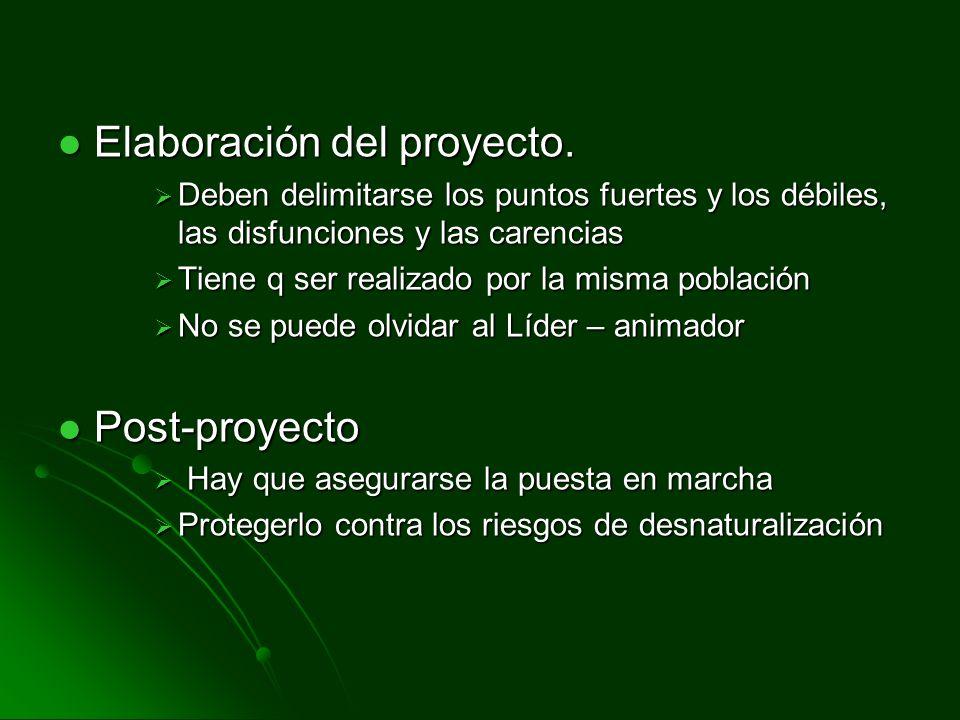 Elaboración del proyecto.Elaboración del proyecto.
