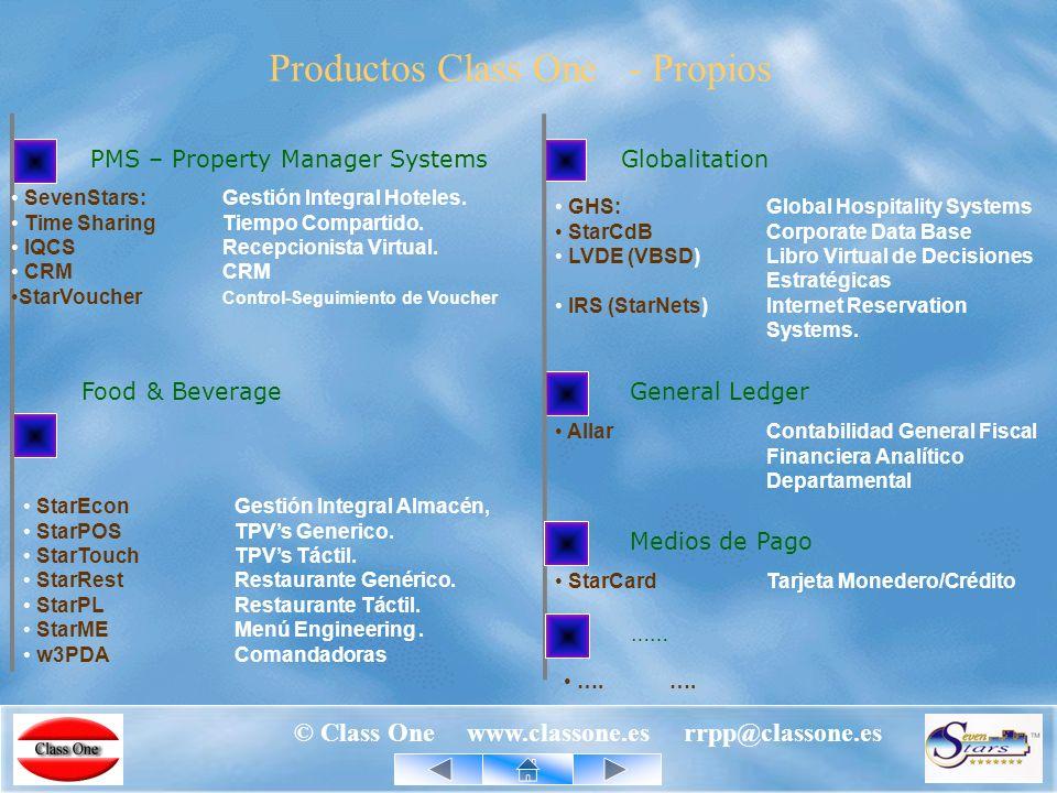 © Class One www.classone.es rrpp@classone.es Tecnología y Recursos Class One Los productos Class One al igual que los grandes Bancos, multinacionales, …, están desarrollados en lenguaje COBOL, lo que los hace robustos, fiables, seguros y duraderos, …, y además no dependen de ningún sistema operativo.