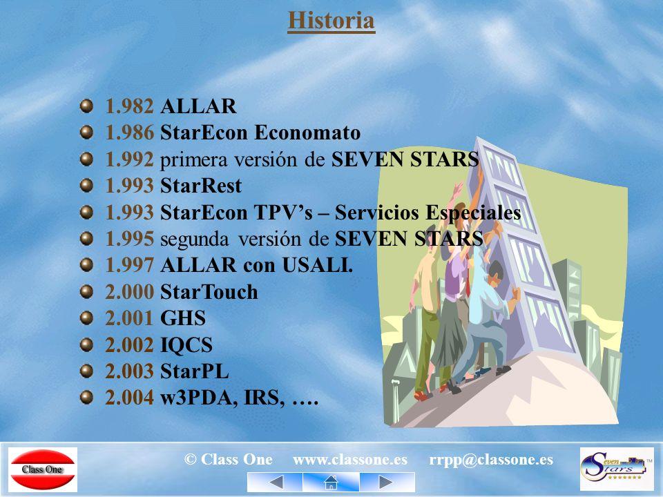 © Class One www.classone.es rrpp@classone.es Productos Class One - Propios SevenStars: Gestión Integral Hoteles.