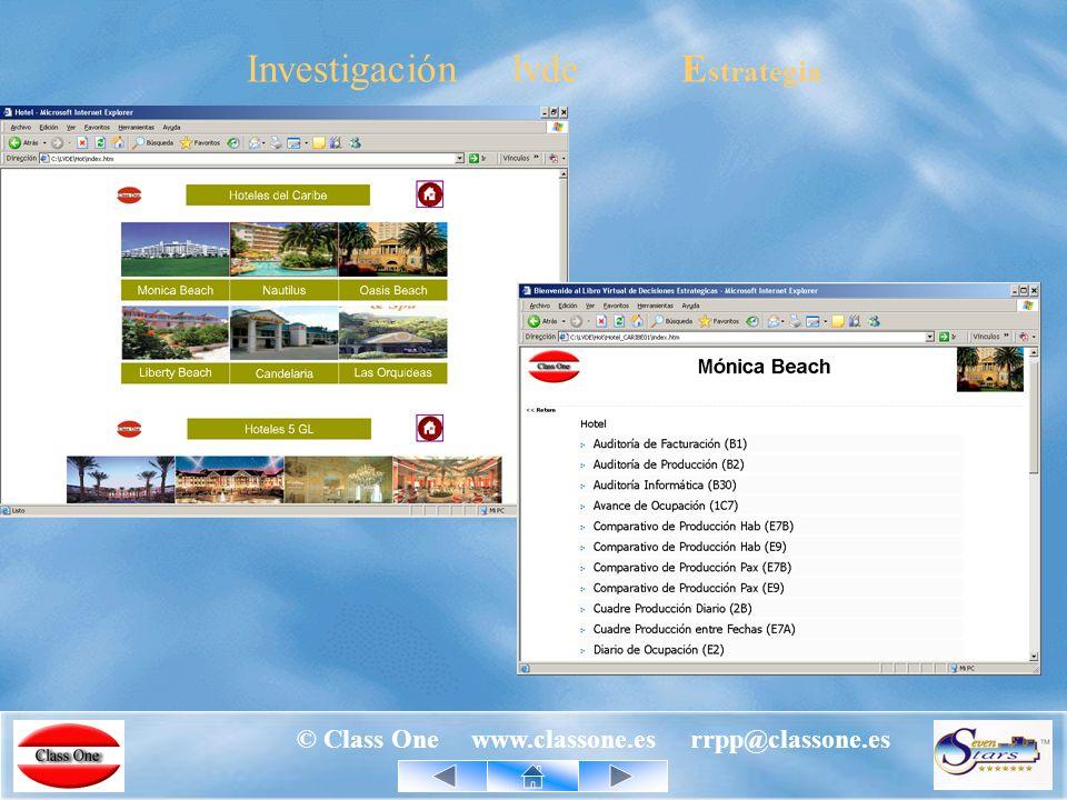 © Class One www.classone.es rrpp@classone.es Investigación lvde E strategia