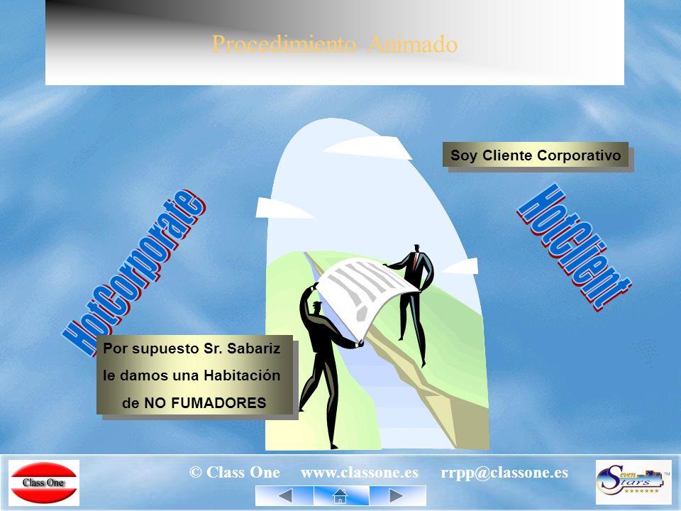 © Class One www.classone.es rrpp@classone.es StarCdB - Descripción funcionalidad real Recíprocamente, la base de datos corporativa se alimentará y/o actualizará periódicamente de los nuevos datos que se van produciendo en los diferentes hoteles.
