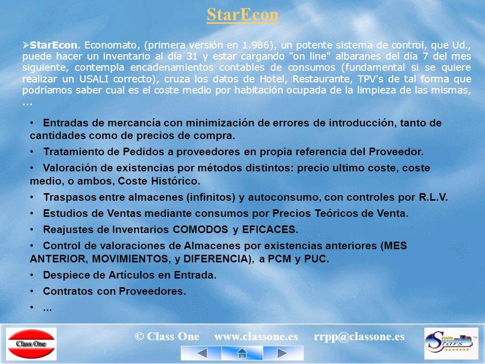 © Class One www.classone.es rrpp@classone.es Procedimiento Animado Con una mera consulta SQL a HotCorporate a través de Internet, ya sabemos quien es el Sr.