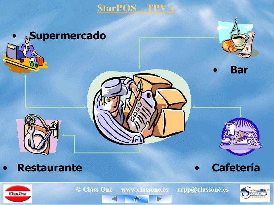 © Class One www.classone.es rrpp@classone.es StarEcon Entradas de mercancía con minimización de errores de introducción, tanto de cantidades como de precios de compra.