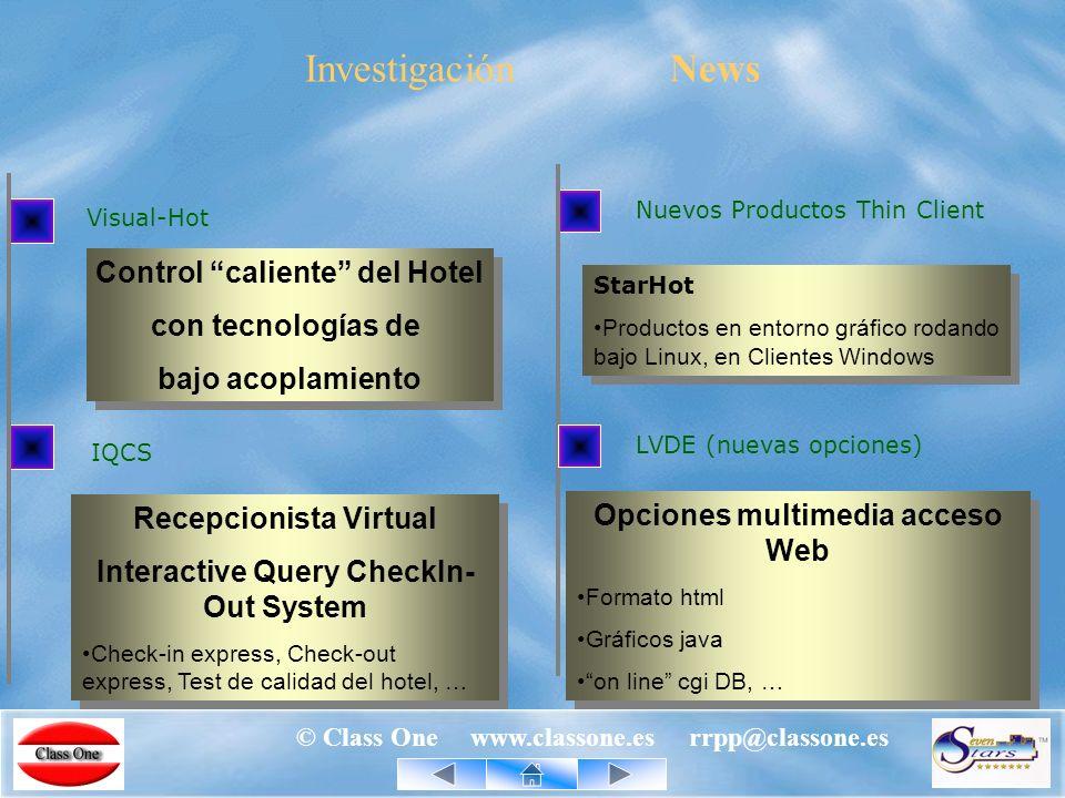 © Class One www.classone.es rrpp@classone.es StarME – Menú Engineering © Class One www.classone.es rrpp@classone.es