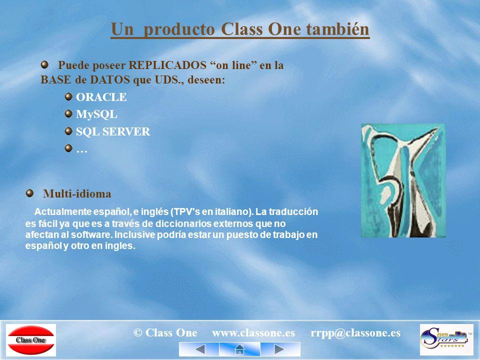 © Class One www.classone.es rrpp@classone.es Un producto Class One significa TERMINADO y DEPURADO.