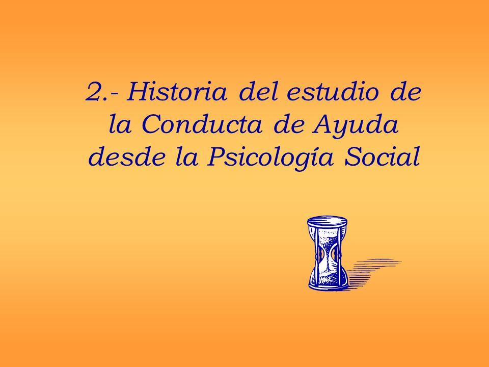 2.- Historia del estudio de la Conducta de Ayuda desde la Psicología Social