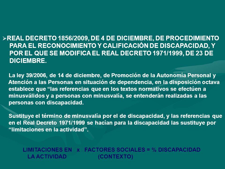 EL REAL DECRETO 504/2007, POR EL QUE SE APRUEBA EL BAREMO DE VALORACIÓN DE LA SITUACIÓN DE DEPENDENCIA, EL REAL DECRETO 504/2007, POR EL QUE SE APRUEBA EL BAREMO DE VALORACIÓN DE LA SITUACIÓN DE DEPENDENCIA, ESTABLECE UN NUEVO INSTRUMENTO DE VALORACIÓN DE LA NECESIDAD DEL CONCURSO DE TERCERA PERSONA EN EL RECONOCIMIENTO DEL GRADO DE DISCAPACIDAD, DEROGANDO EXPRESAMENTE EL ANEXO 2 DEL REAL DECRETO 1971/1999.