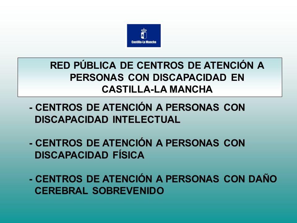 - CENTROS DE ATENCIÓN A PERSONAS CON DISCAPACIDAD INTELECTUAL - CENTROS DE ATENCIÓN A PERSONAS CON DISCAPACIDAD FÍSICA - CENTROS DE ATENCIÓN A PERSONA
