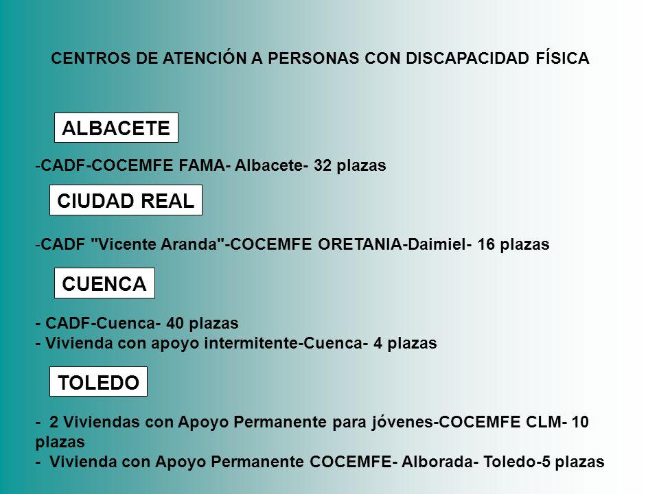 -CADF-COCEMFE FAMA- Albacete- 32 plazas -CADF